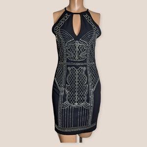 Iris Embellishe Sparkly black  dress mini size S